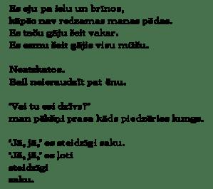 Latvian poem